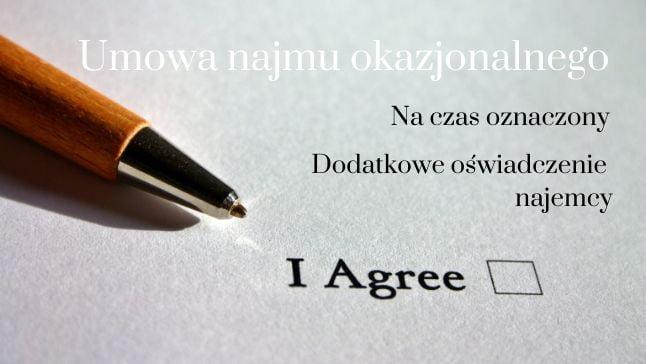 Warunki podpisania umowy najmu okazjonalnego