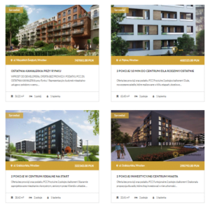 budowanie bazy ofert nieruchomości