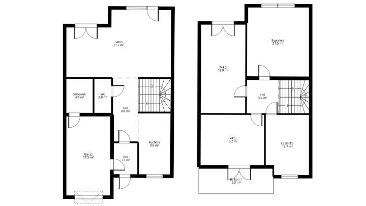 poziomy rzut mieszkania