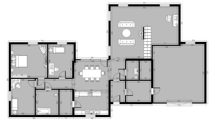 techniczny rzut mieszkania